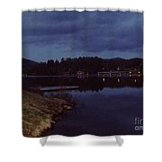 Lake Placid At Night Shower Curtain