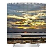 Lake Pontchartrain Sunset 2 Shower Curtain