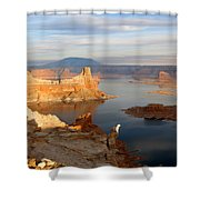 Lake Powell From Alstrum Pt 12 Shower Curtain