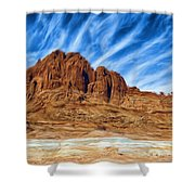 Lake Powell Rocks Shower Curtain by Ayse Deniz
