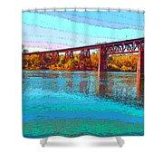 Lake Redding Ca Digital Painting Shower Curtain