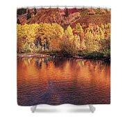 Lake Reflection In Fall 2 Shower Curtain