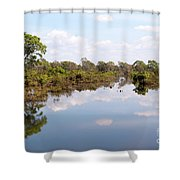 Lake Reflections 01 Shower Curtain