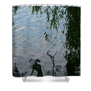 Lake Reflections Of Blue Shower Curtain
