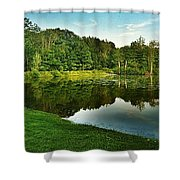 Lake Reflections Shower Curtain