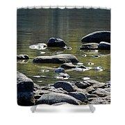 Lake Rocks Shower Curtain
