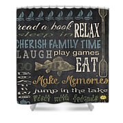 Lake Rules-relax Shower Curtain