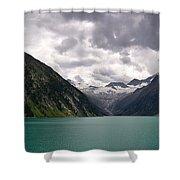 Lake Schlegeis Shower Curtain