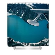 Lake Seen From A Seaplane Shower Curtain