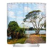 Lake Series 01 Shower Curtain