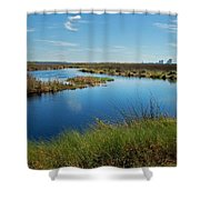 Lake Shelby Daytime  Shower Curtain