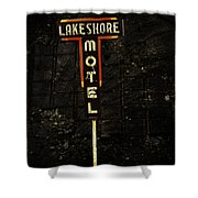 Lake Shore Motel Shower Curtain