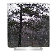 Lake Snowfall Shower Curtain