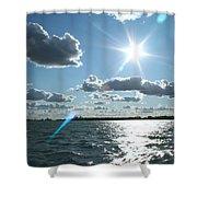 Lake St. Clair Sunset Shower Curtain