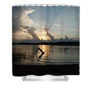 Lake Sunset 11 Shower Curtain