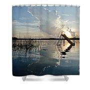 Lake Sunset 5 Shower Curtain