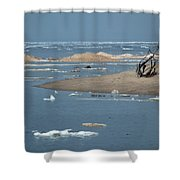 Lake Superior And Ice Shower Curtain