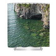 Lake Superior Cliff Scene 7 Shower Curtain