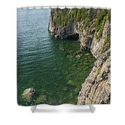 Lake Superior Cliff Scene 9 Shower Curtain