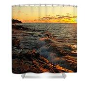 Lake Superior Dawn Shower Curtain
