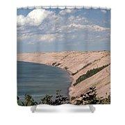Lake Superior Dunes Shower Curtain