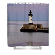 Lake Superior Lighthouse Shower Curtain