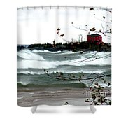 Lake Superior Storm Shower Curtain