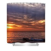 Lake Superior Sunset Panorama Shower Curtain