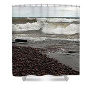 Lake Superior Surf Shower Curtain