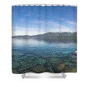 Lake Tahoe Calm Shower Curtain