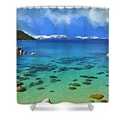 Lake Tahoe Cove Shower Curtain