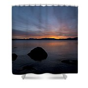 Lake Tahoe Dawn Shower Curtain