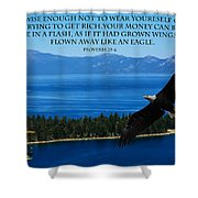 Lake Tahoe Eagle Proverbs Shower Curtain
