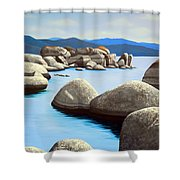 Lake Tahoe Rock Garden Shower Curtain