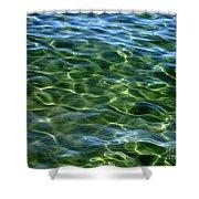 Lake Tahoe Swirls Abstract Shower Curtain