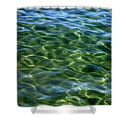 Lake Tahoe Swirls Abstract Shower Curtain