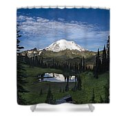 Lake Tipsoo Reflections Shower Curtain