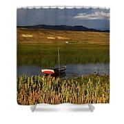 Lake Titicaca And Quinoa Field Shower Curtain