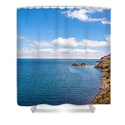 Lake Titicaca Coastline  Shower Curtain