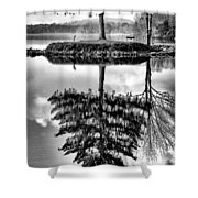 Lake Tree Shower Curtain