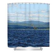 Lake Umbagog Choppy Waters Shower Curtain