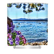 Lake View On Lake Tahoe By Diana Sainz Shower Curtain