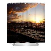 Lake Waconia Sunset Shower Curtain