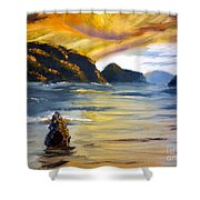 Lake Wahatipu Queenstown Nz Shower Curtain