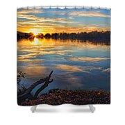 Memorial Park Sunset Shower Curtain