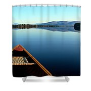 Lake Winnepasaukee Canoe Shower Curtain