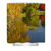 Lake Winona Autumn 13 Shower Curtain