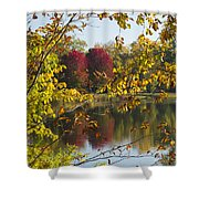 Lake Winona Autumn 15 Shower Curtain