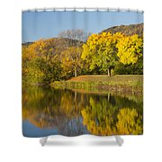 Lake Winona Autumn 8 Shower Curtain