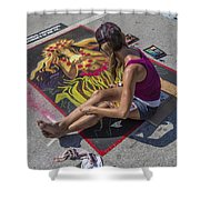 Lake Worth Street Painting Festival Shower Curtain